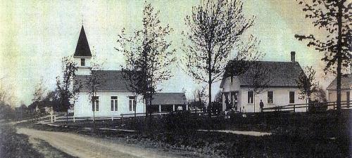 1850 Union Church & 1896 white schoolhouse
